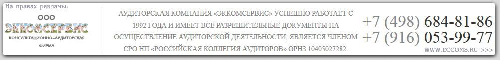 Аудиторская фирма г Мытищи ООО ЭККОМСЕРВИС